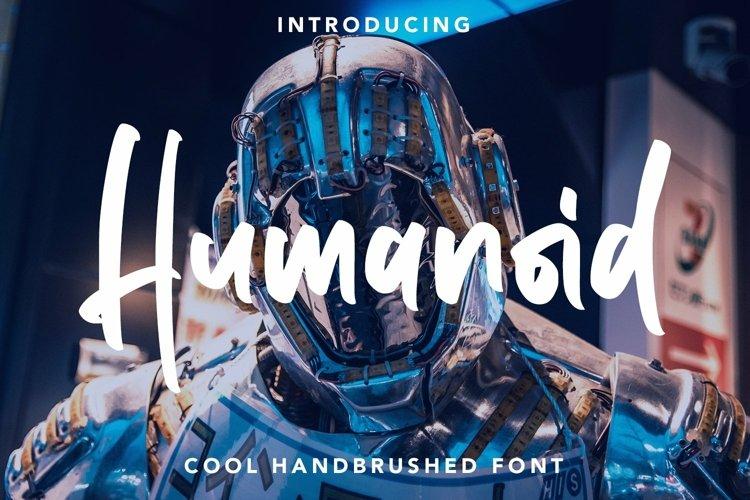 Web Font Humanoid - Cool Handbrushed Font example image 1