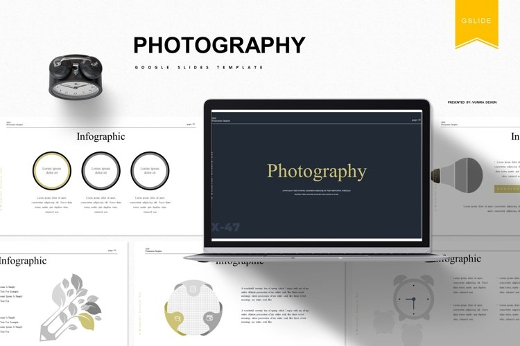Photography | Powerpoint, Keynote, GoogleSlides Template example image 1
