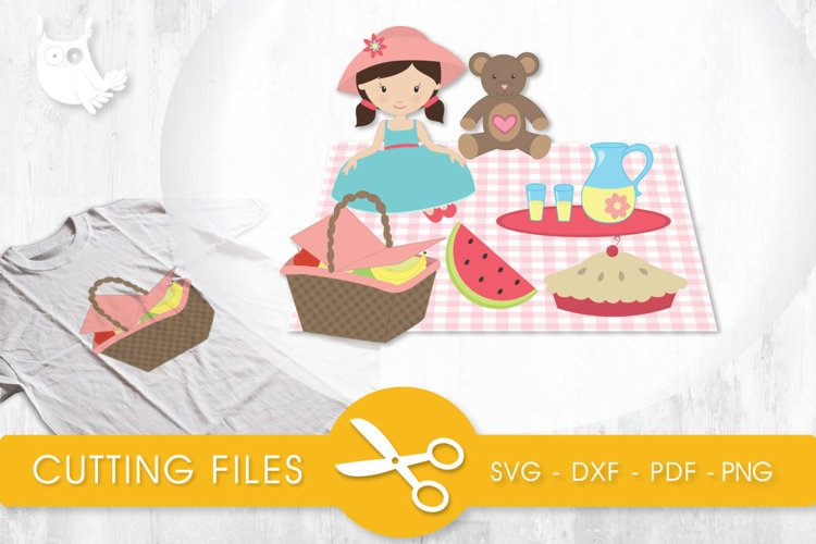 The Perfect Picnic cutting files svg, dxf, pdf, eps included - cut files for cricut and silhouette - Cutting Files SG example image 1