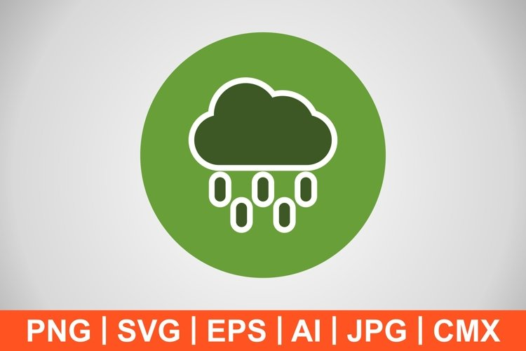 Vector Rain Icon example image 1
