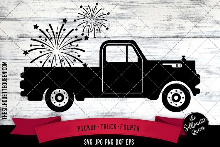 Pickup truck Fourth Cut file Svg