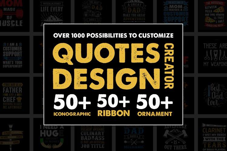 Quotes Design Creator   for T-Shirt Design