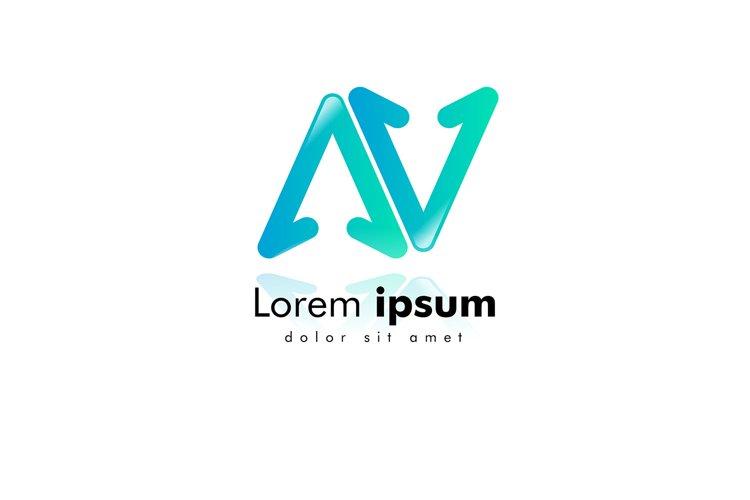 letter AV logo. arrow icon. minimal design concept. creative example image 1