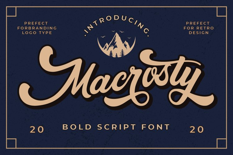 Macrosty - Bold Script Font