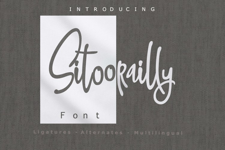 Sitoorailly Font