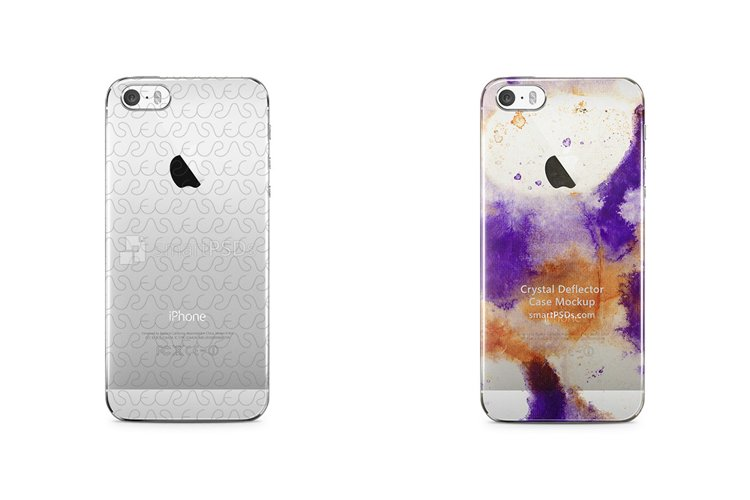 Apple iPhone 5S 3d Crystal Mobile Case Design Mockup 2013 example image 1