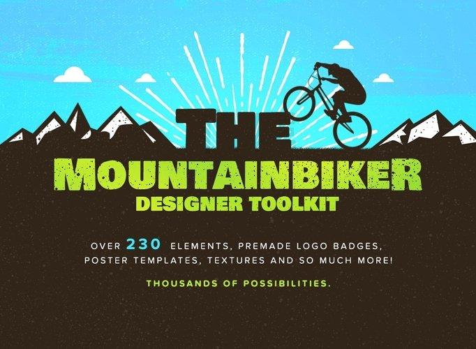 The Mountain Bike Logos Kit | Mountain Logo example image 1