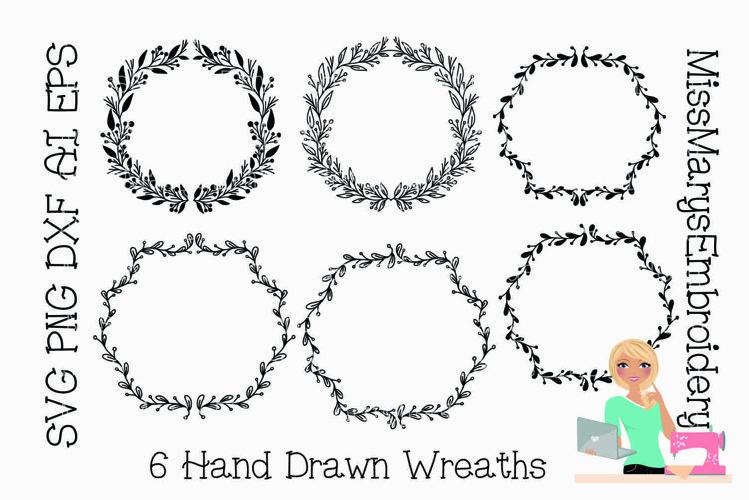 Monogram Wreath SVG | Wreath Bundle SVG |Winter SVG | e example image 1