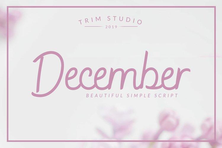 December - Sophisticated Monogram Font example image 1