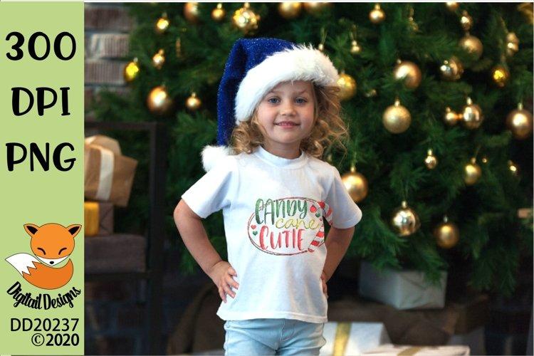 Candy Cane Cutie Christmas Sublimation example image 1