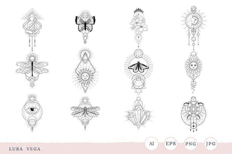 Mystic | tattoo | Mystic Line art