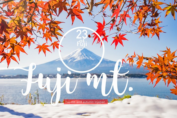 23 Fuji mt. & Autumn season set (Discount from 19$) example image 1