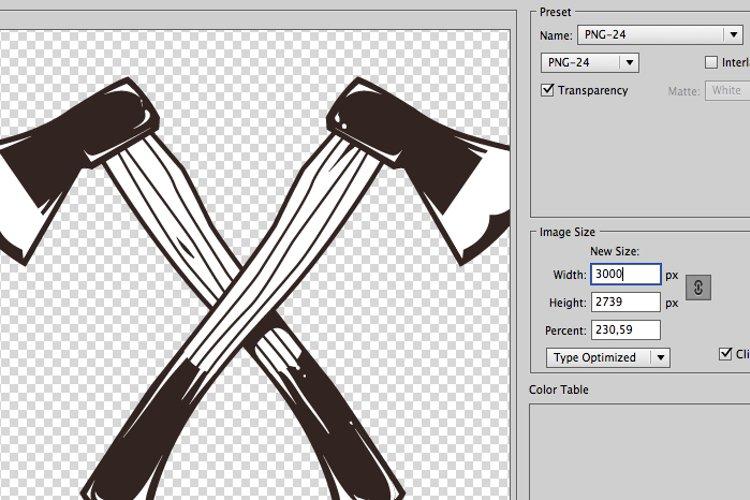 Crossed Work Tools example 1