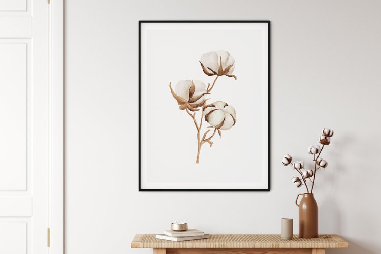 Watercolor Flower Wall Art, Flower Wall Print, Plant Print example image 1