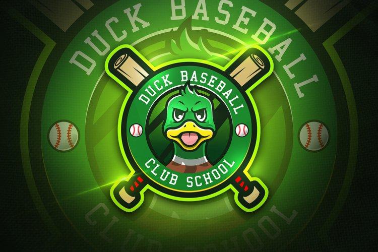 Duck Baseball - Mascot & Esport logo example image 1