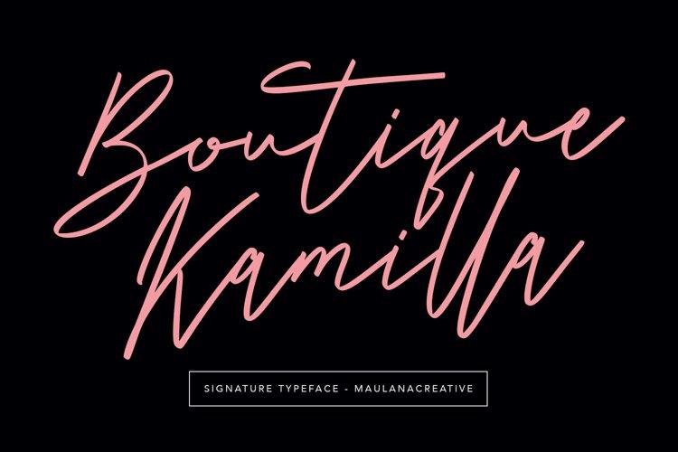 Boutique Kamilla Signature Typeface example image 1