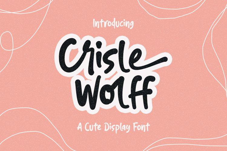 Crisle Wolff Cute Display Font example image 1