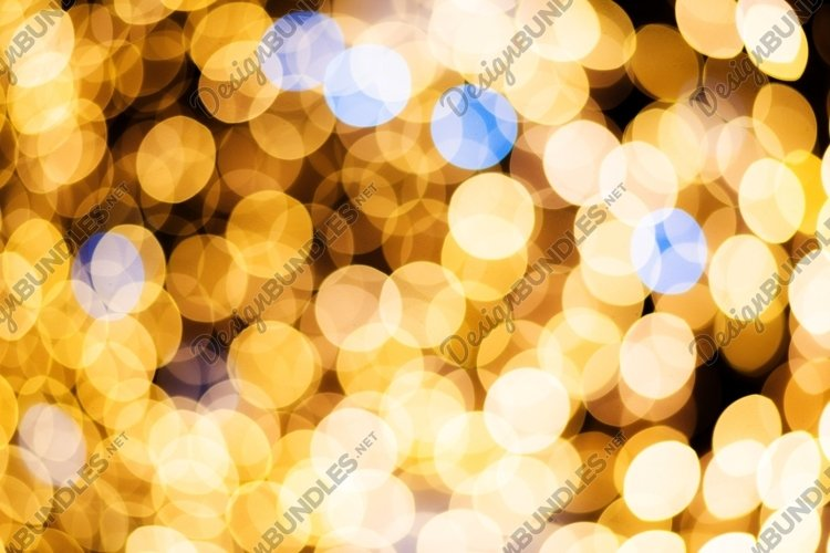 Defocused abstract golden bokeh lights background example image 1
