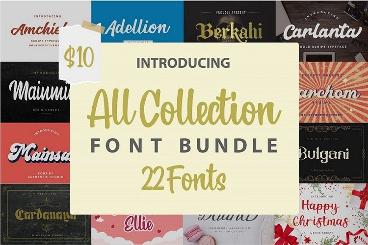 All Collection-Font Bundle example image 1