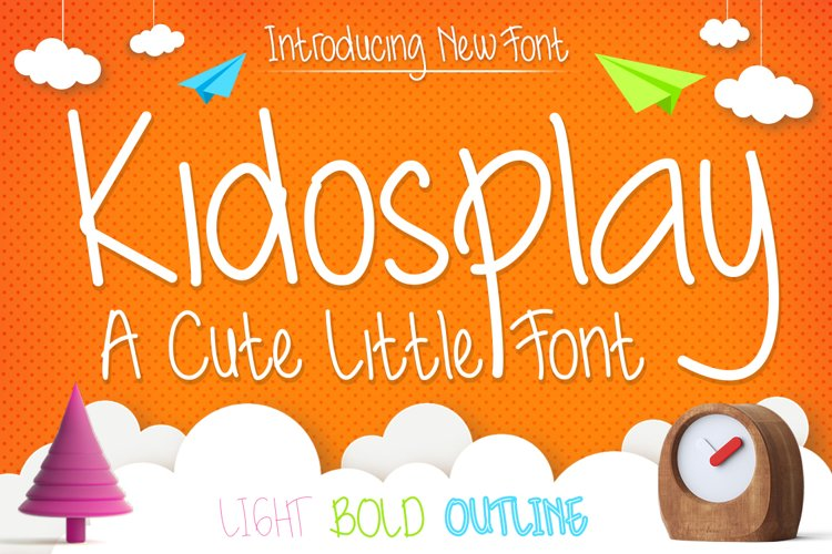 Cute Font Family - Kidosplay example image 1
