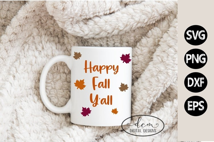 Happy Fall Y'all SVG PNG DXF EPS example image 1