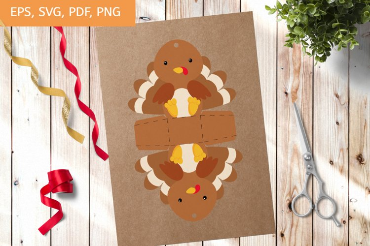 Cute Gift Package Turkey Template SVG, Gift Box SVG example image 1
