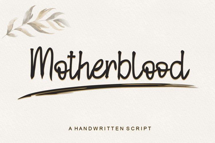 Motherblood - Handwritten Script example image 1