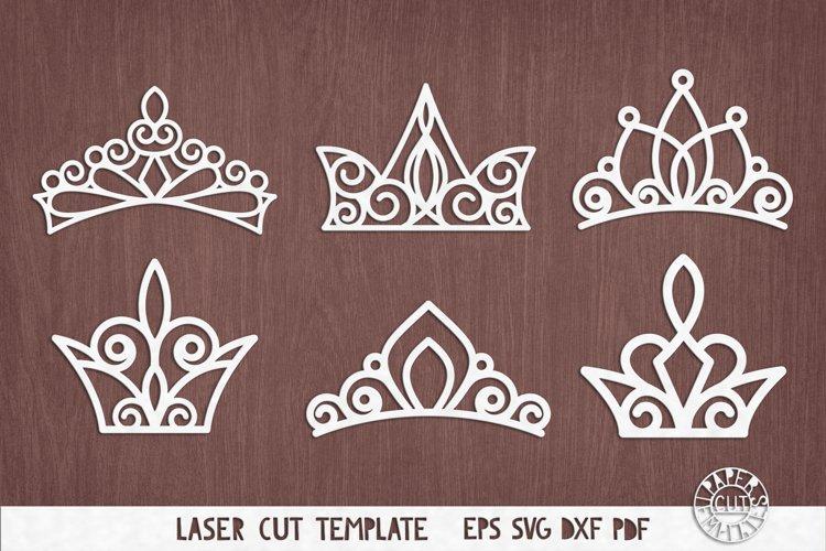 Download Svg Set Of Princess Crowns Templates For Laser Cutting 448488 Elements Design Bundles