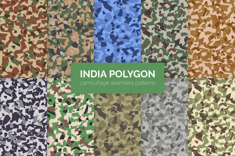 India Polygon Camouflage Patterns