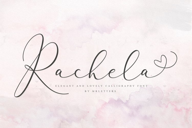 Rachela Lovely Calligraphy Font example image 1