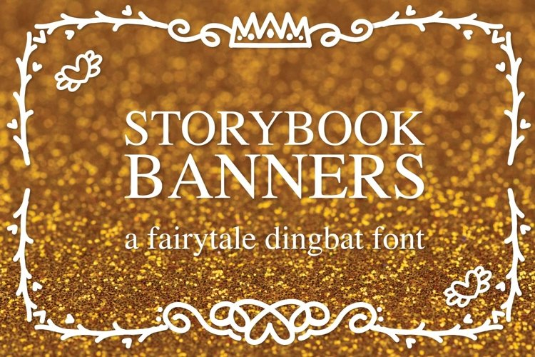 Web Font Storybook Banners - A Dingbat Font example image 1