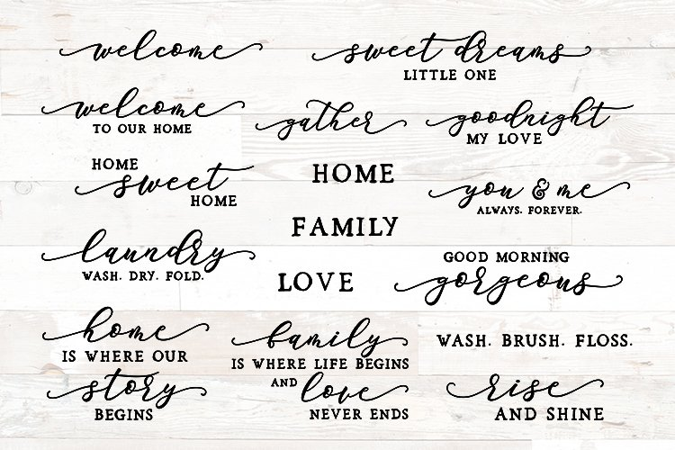 Family Sign Bundle, Family Quotes Bundle, Home Sign Bundle example image 1