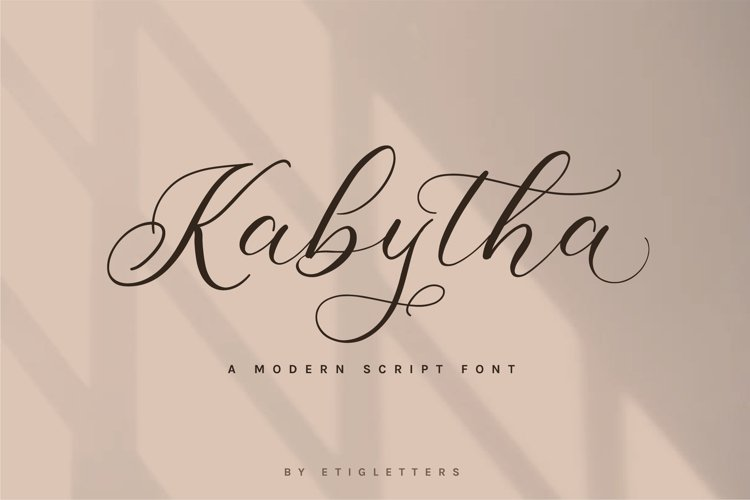 Kabytha | Script Font example image 1