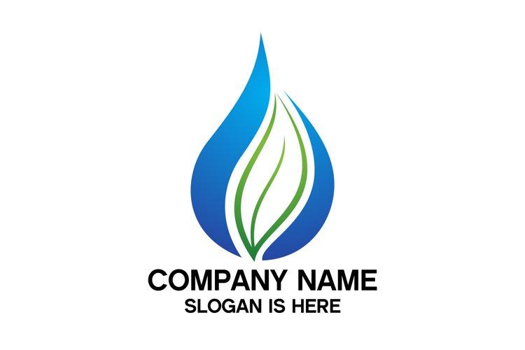 Eco water drop logo design vector example image 1