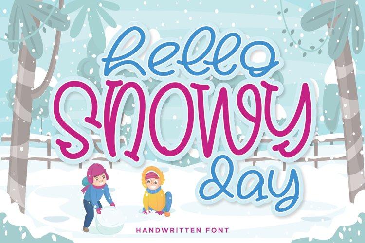 Hello Snowy Handwritten Font example image 1