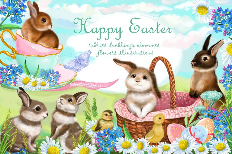 Easter Clipart Rabbits, Easter Bunny