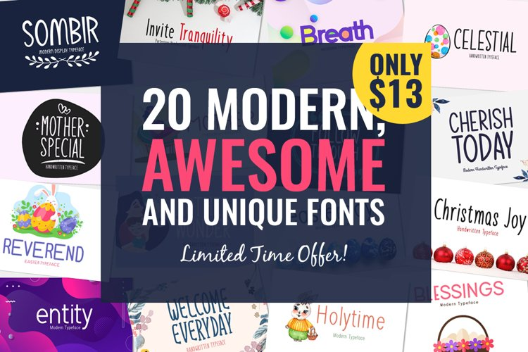 20 Awesome Fonts Only $13 example image 1