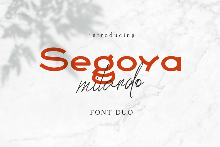 Segoya Milardo Font Duo example image 1
