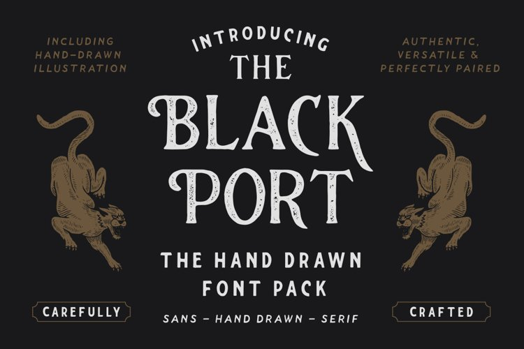 The Blackport Font Pack and EXTRA!