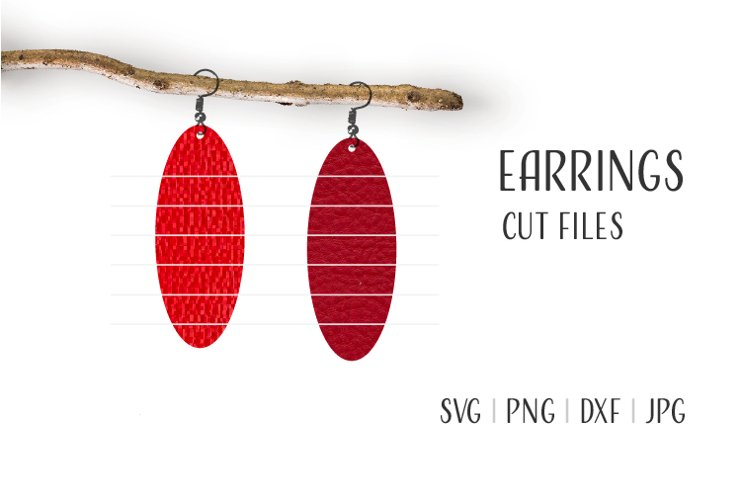 Oval Earrings Svg, Earrings Svg example image 1