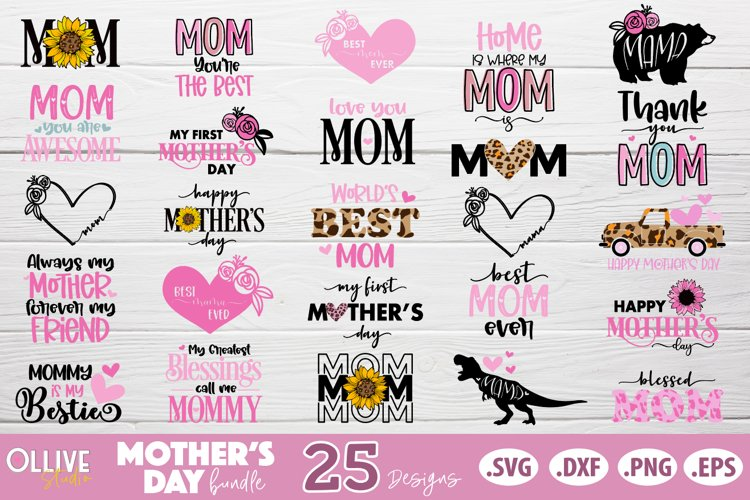 Mothers Day SVG Bundle, Mom Mother's Day SVG example image 1