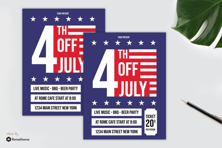 4th Of July Flyer vol. 01 example image 1
