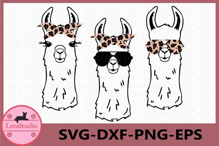 Llama SVG, Leopard Svg, Llama Face Svg, Llama in glasses svg example image 1