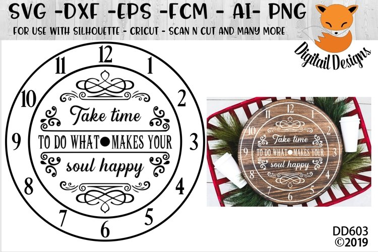 Motivational Clock Face SVG example image 1