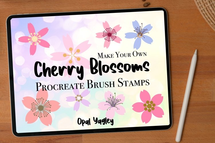 Cherry Blossoms Procreate Stamps / 12 Petals and 6 Stamen