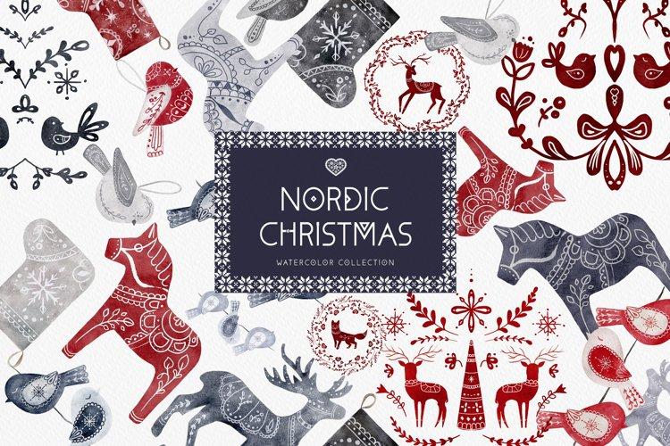 Nordic Christmas Clip Art Dala Horse Swedish Design example image 1