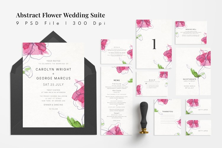 Abstract Flower Wedding Suite example image 1