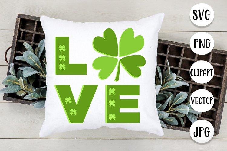 Shamrocks Love St. Patricks Day Design - Svg cut files