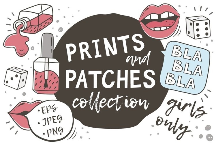 PRINTS and PATCHES PACK example image 1