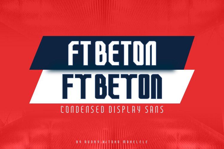 FT Beton Condensed example image 1